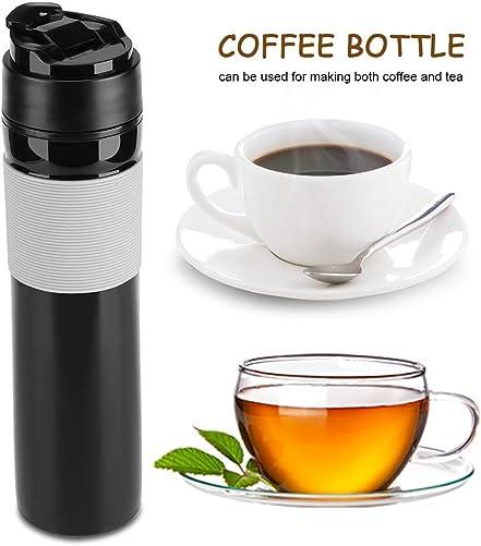 Coffee Press Bottle,350ml Portable Coffee Press Bottle Tea Coffee Maker Drinking Water Cup