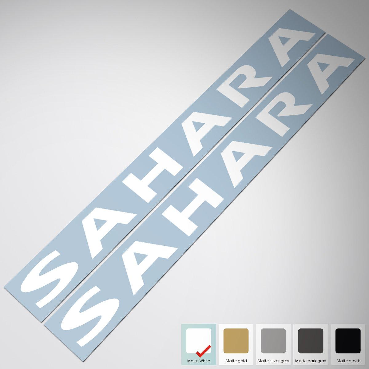 Matte White Demupai jeep wrangler sahara Hood Decals Sticker Autodream sticker --50cm4.3cm