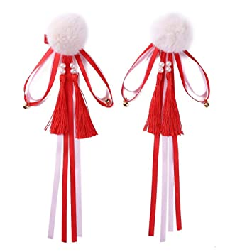 Girl's Hair Accessories New Fashion Ribbon Flower Cute 5cm Party Cap Hairpins Festival Hat Hair Clip With Fur Children Hair Accessories Baby Hair Clip Complete In Specifications