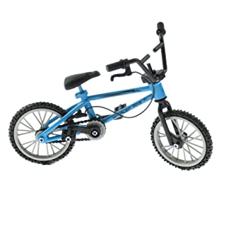 Fityle 1:24 Blue Bicycle Simulation Toy Creative Mountain Finger Bike Birthday Christmas Gift
