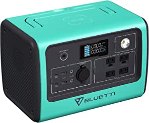 BLUETTI Portable Power Station EB70, 716Wh Rechargeable LiFePO4 Battery Solar Generator 700W Inverter with 2x100W PD Ports, 4x110V Pure Sine Wave AC Outlets, Emergency Power for Off Grid, Outdoor