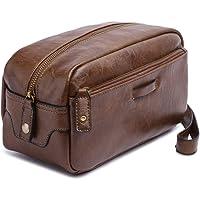 Mens Toiletry Travel Bag Wash Bag Cosmetic Bag Organizer Dopp Kit Light Tan