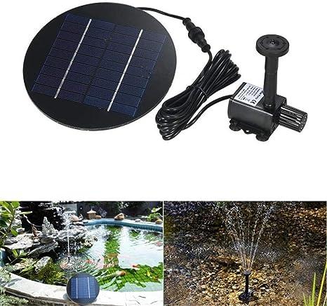 YLYP Fuente Solar, Jardín de separación Fuente de Agua Bomba de ...