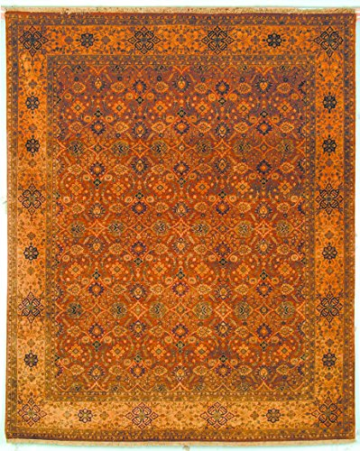 Lavar Cream (Safavieh Lavar Collection LV39A Hand-Knotted Rust and Cream Wool Area Rug (8' x)