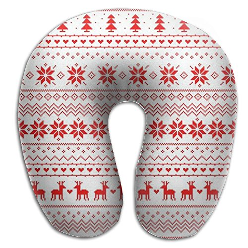 Christmas Pattern Comfortable U Type Pillow Neck Pillow Travel Pillows Super Soft Cervical Pillows With Resilient Material