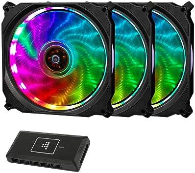 Tronsmart TF12 RGB Ventilador de PC 120mm-Kit Exclusivo 3 en 1 12V ...