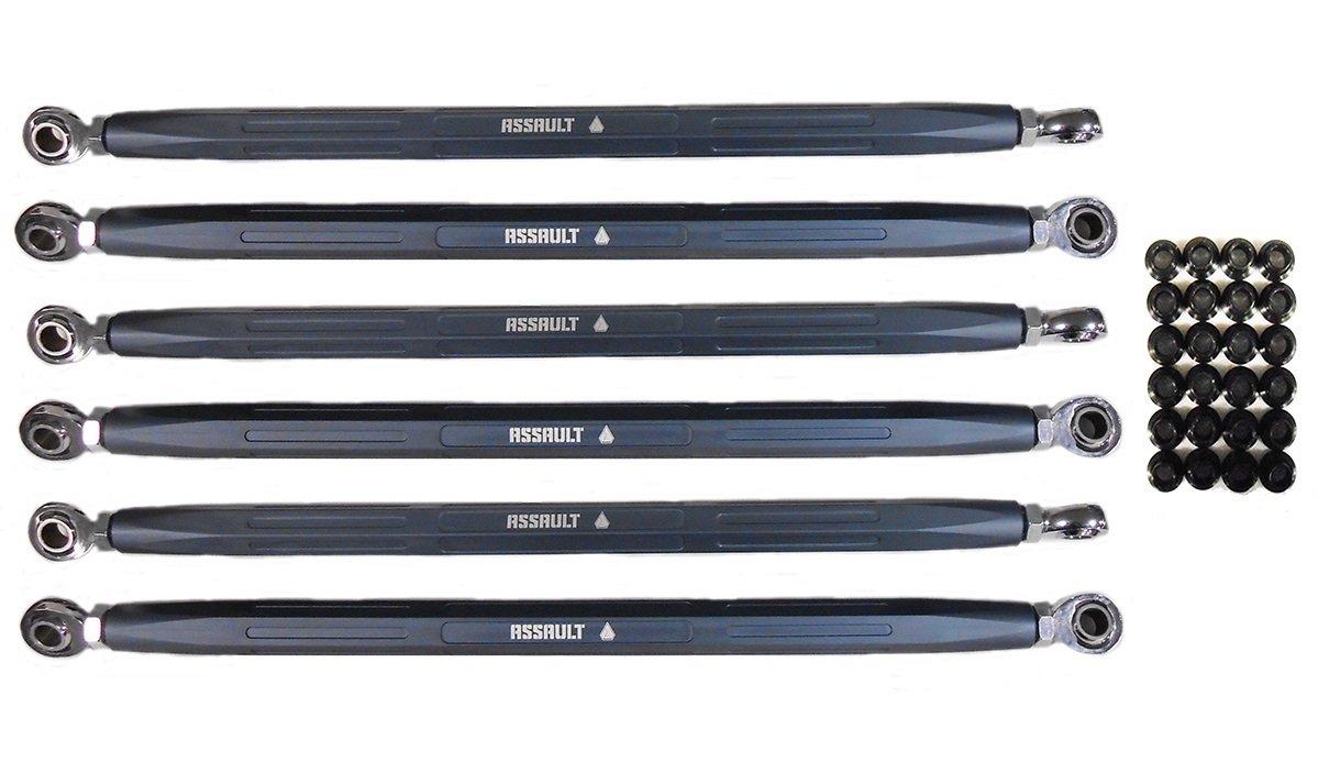 Assault Industries Gun Metal Turret Radius Rods for Can-Am Maverick X3 X RS