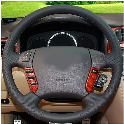 Funda para volante de coche con hilo de agujas color negro