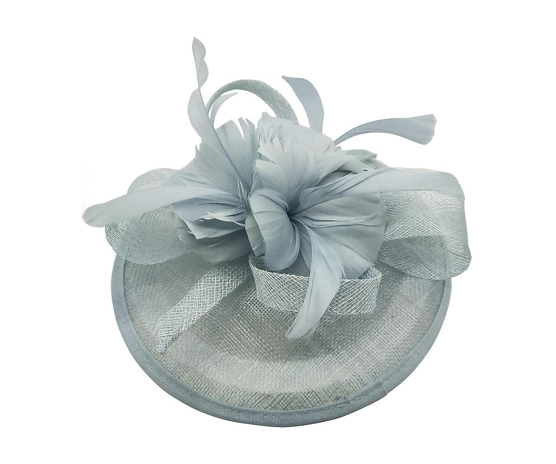 New Flower Feather Disc Wedding Hat Fascinator Headband Clip Royal Ascot Race UK
