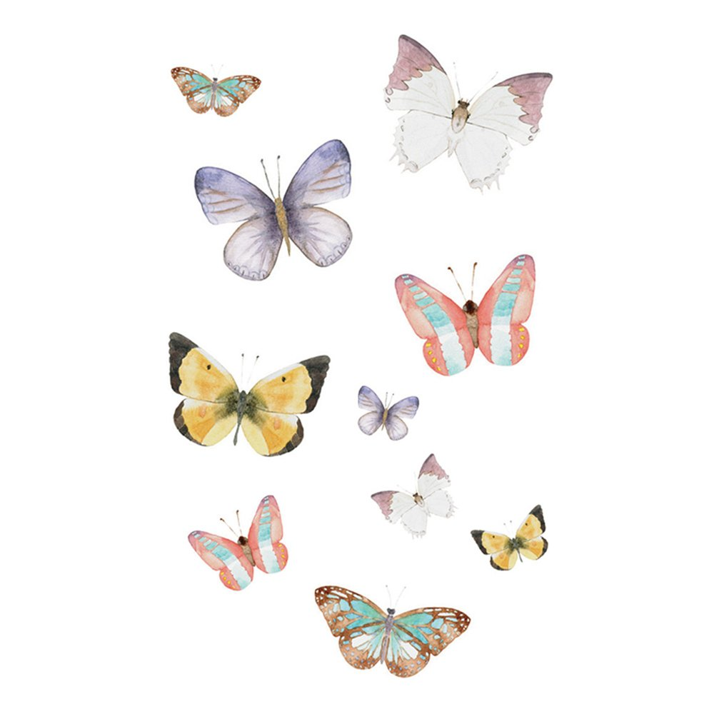 WYUEN New Design 5 Sheets Waterproof Temporary Butterfly Tattoo Sticker For Women Men Body Art 9.8X6cm Fa-137