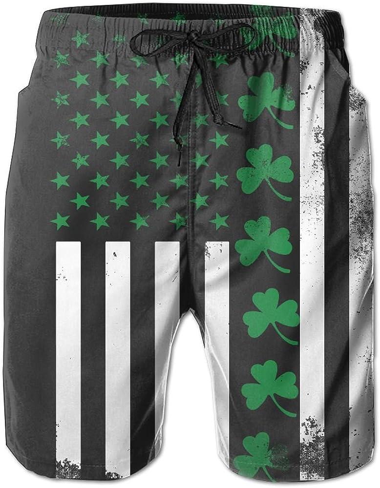 SSANSKKE American Grown with Irish Roots Mens Quick Dry Swim Trunks Beach Shorts