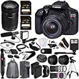 Canon EOS Rebel T6 DSLR Camera with 18-55mm Lens + Canon EF-S 55-250mm f/4-5.6 IS STM Lens + Sony 32GB SDHC Card + Rechargable Li-Ion Battery + Charger + HDMI Cable + Remote Video Creator Kit