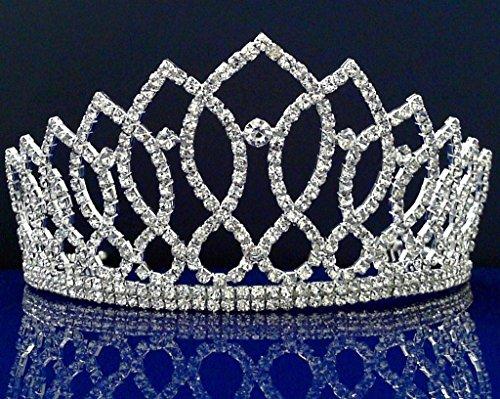 Alexandra - Elegant Rhinestone Crystal Bridal Wedding Tiara -