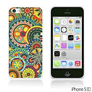 OnlineBestDigitalTM - Flower Pattern Hardback Case for Apple iPhone 5C - Multicolor Floral Shapes
