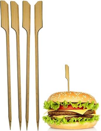 Hometools Eu 50x Hamburger Spiesse Sticks Bbq Grill Cheese
