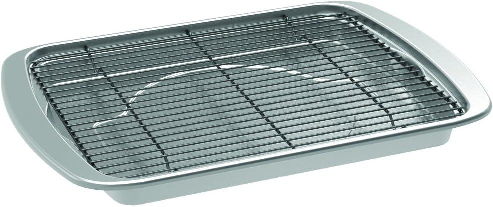 Nordic Ware Oven Crisp Baking Tray, 15&quotL x 11.38&quotW x 1.25&Quoth, Silver