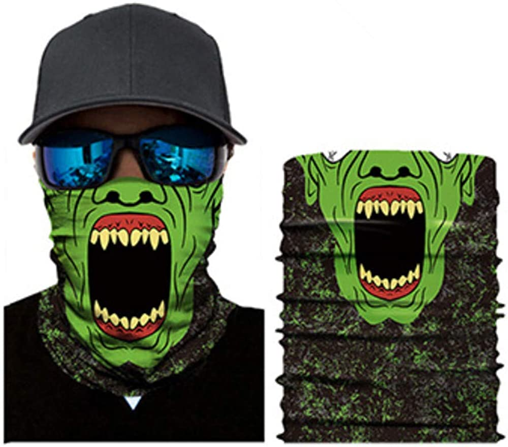 Locika Pack of 2.Skull Neck Gaiter Face Mask,Lightweight Face Gaiter,Face Scarf,Cooling Sun Face Cover for Fishing Hunting.