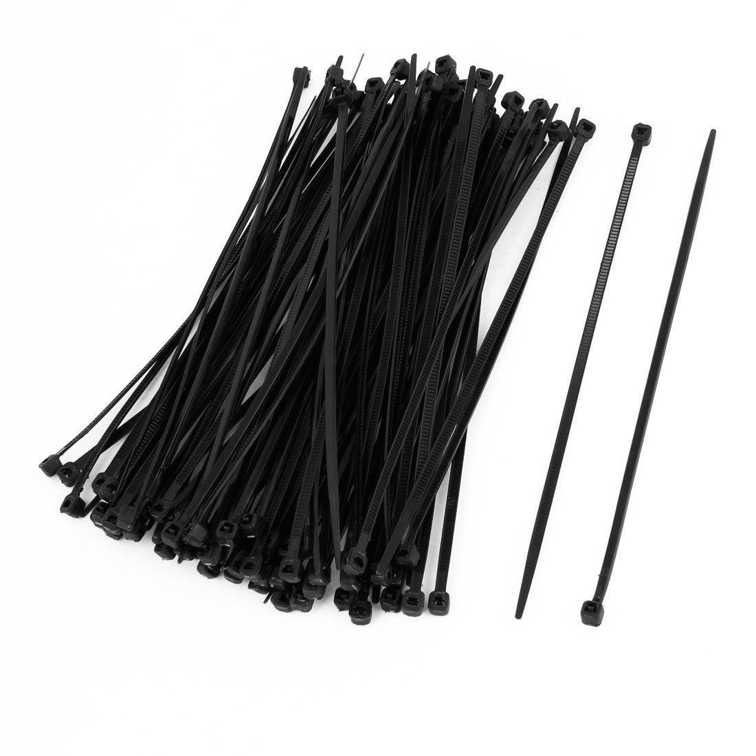 100 Stück bis 1000 Stück Kabelbinder von 2,5x100 mm bis 4,8 x 450mm Weiß Schwarz (4,8x450mm, 500 Stück Schwarz) B075C636K2 | Angenehmes Aussehen