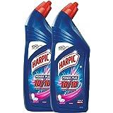 Harpic Powerplus Disinfectant Toilet Cleaner, Rose - 1 L (Pack of 2)