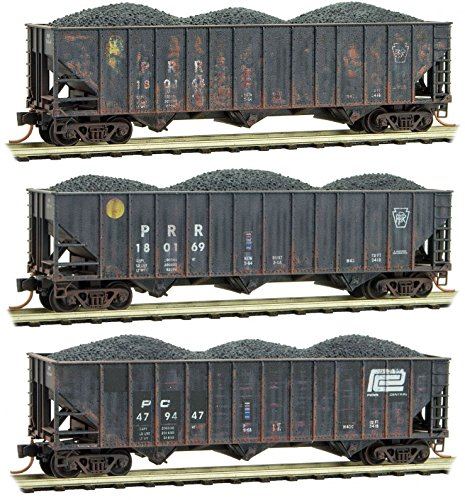 Micro-Trains MTL N-Scale Penn Central/PC Heritage Coal Hoppers Weathered 3-Pack