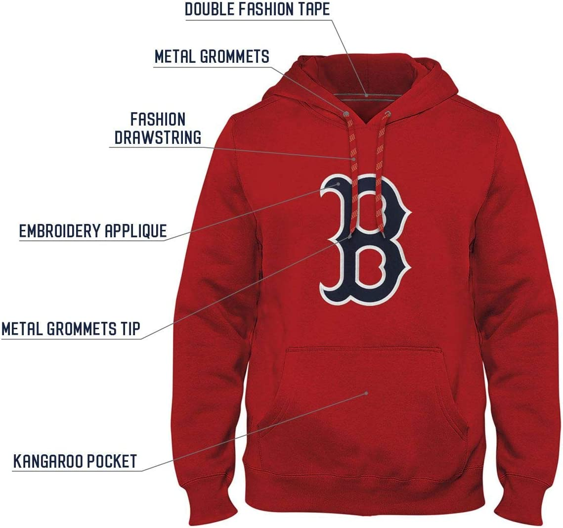 Boston Red Sox Express Twill Logo Hoodie Red