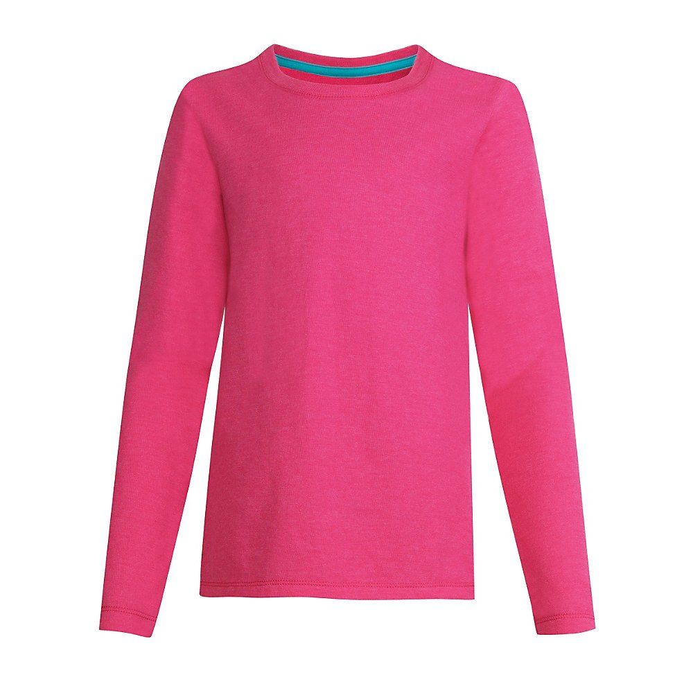 By Hanes Girls' Long-Sleeve Crewneck T-Shirt