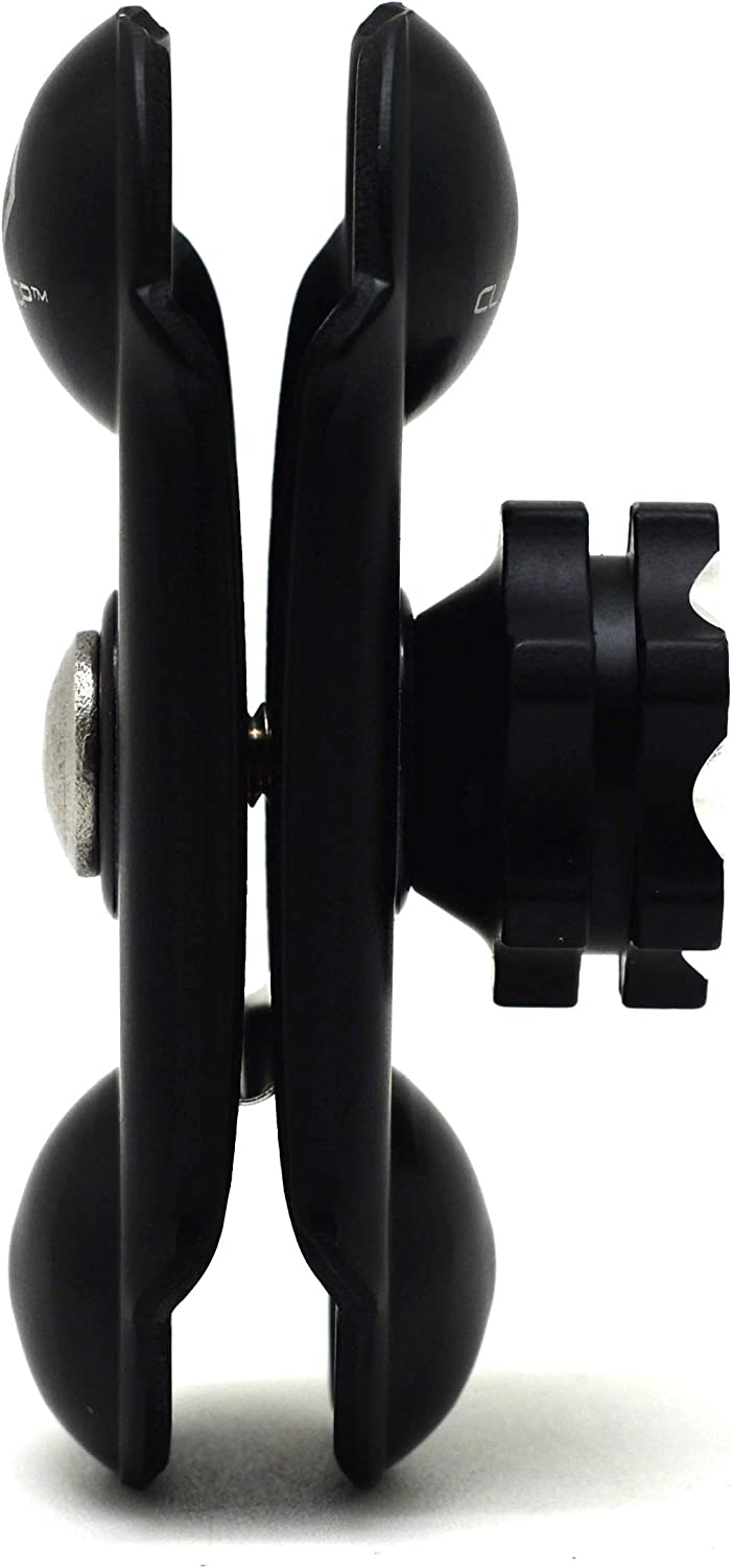 Cliff Top Composite Double Socket Arm 10mm Rear View Mirror Mounting Base