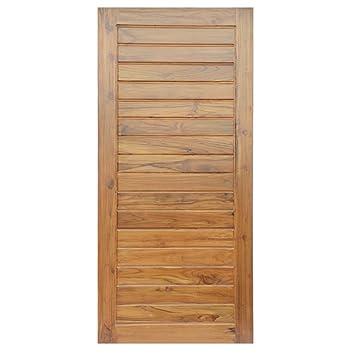 Buy Splice Door Solid Teak Wood Door Brown 1 98 X 0 91 M