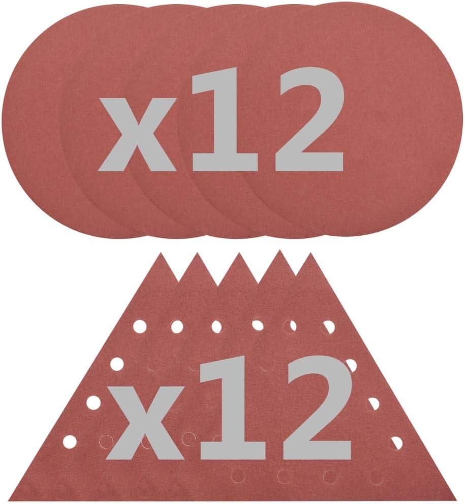 vidaXL 2-in-1 Trockenbauschleifer 24 Schleifpapiere Selbstsaugfunktion Langhalsschleifer Deckenschleifer Wandschleifer Schleifer 850W