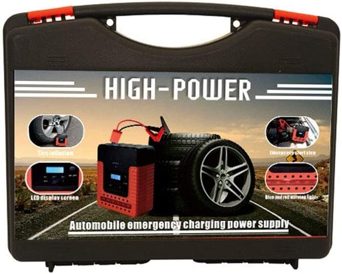 12V Portable Car Jump Starter Power Pack Auto Battery Booster with Smart Jumper Cables