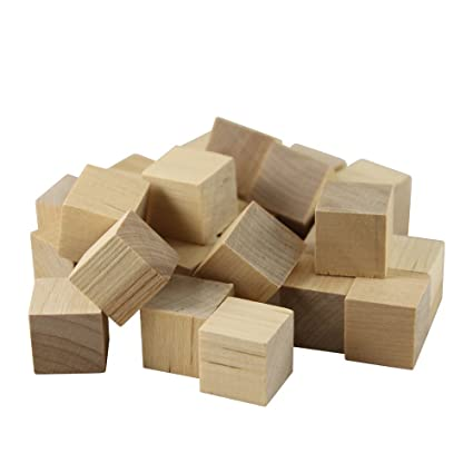 1 14 Inch Wooden Cubes Bag Of 25 Unfinished Square Birch Blocks Baby Shower Decorating Blocks Puzzle Making Crafts And Diy Projects1 14