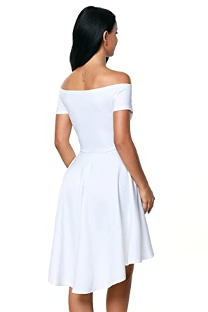 3fcfcafbdb Prime Leader White All The Rage Skater Dress For Women at Amazon Women s  Clothing store
