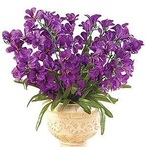 Collections Etc Tree Orchid Artificial Flower Arrangement Bouquet Bush - Set of 3, Purple 18