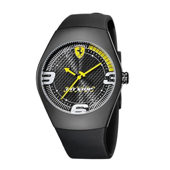 """Waooh - Reloj """"Pit Stop Carbono"""" Ferrari - Amarillo"""
