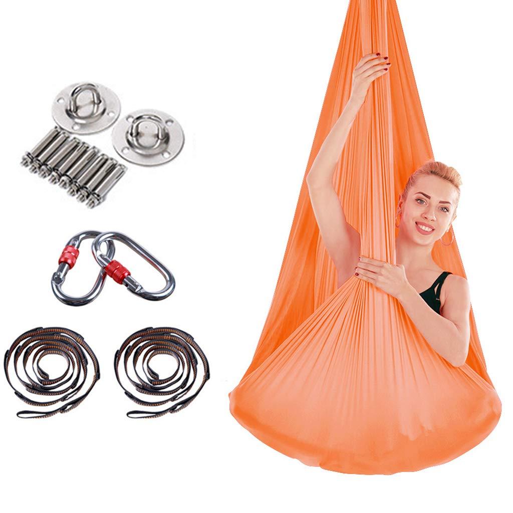 HappyTime Anti-Gravity Swing Yoga Aereo, 5 Metri x 2,8 Metri Adatti per Altezze Indoor di 2,6 Metri-3,2 Metri,d