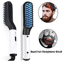 Beard Straightener Comb Quick Classy Brush Hair Straightening Styling Curling Heated Brush for Men&Women