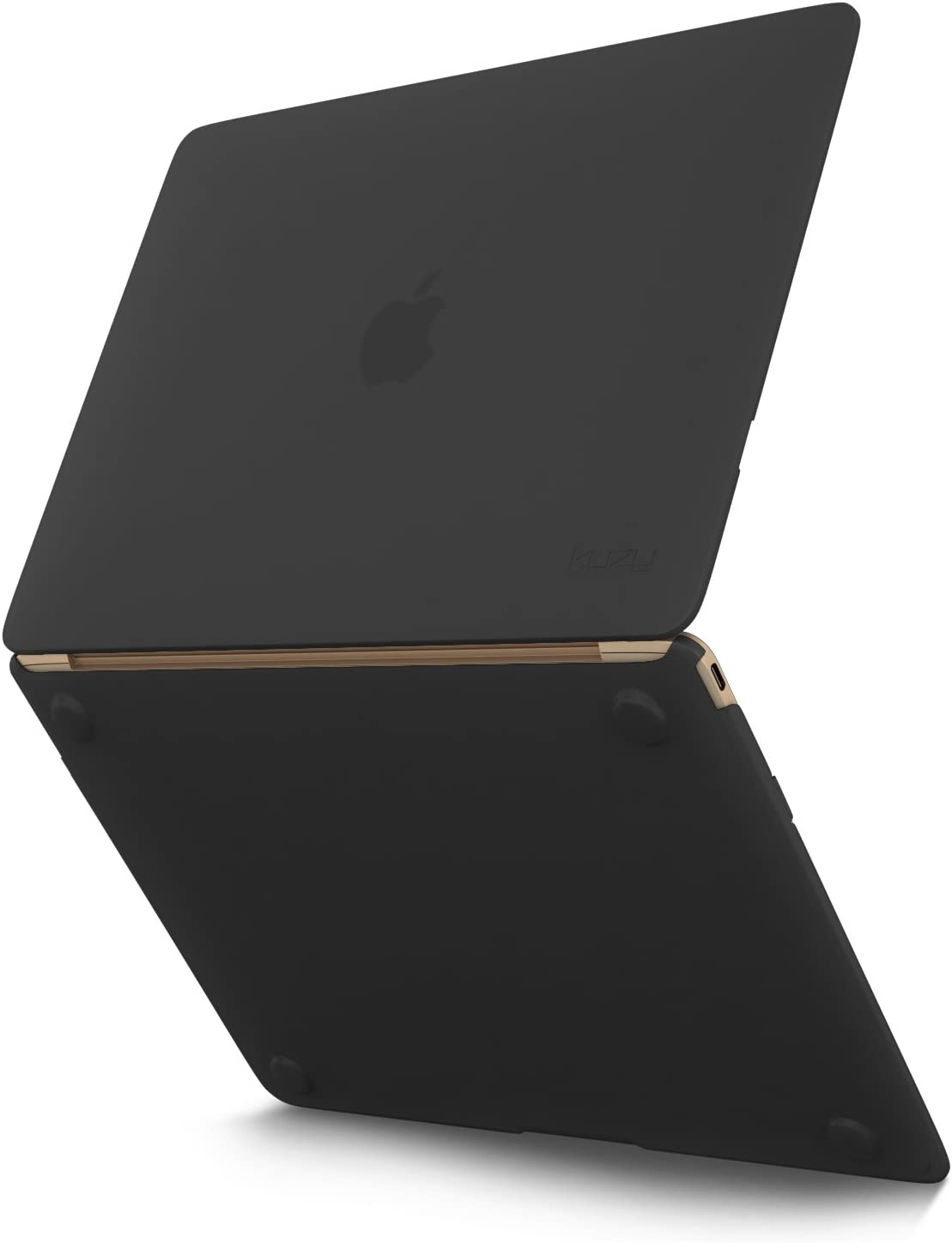 Kuzy MacBook 12 inch Case Silicone Touch Cover A1534 (Newest Version) - Black