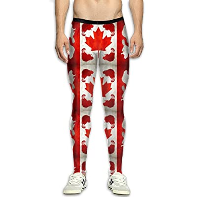 Fri Canada Beaver Compression Pants/Running Tights Athletic Leggings Men Thermal