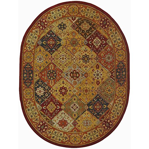 Heritage Collection Oval Rug - Safavieh Heritage Collection HG512A Handcrafted Traditional Oriental Multicolored Wool Oval Area Rug (7'6
