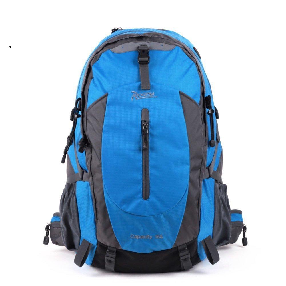 Backpack Beleuchtung Outdoor Wasserdicht Wandern Tasche Abfalltonne Casual Blau Abfalltonne