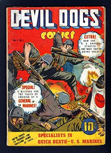 DEVIL DOG COMICS 1 4.5 VG 1942 STREET SMITH MARINES ORIGIN RANGERS - Street Stores Fillmore