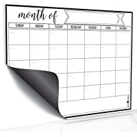 Magnetic Dry Erase Refrigerator Calendar by JR INTL, Large Calendar Whiteboard Monthly Planner - 2 Fine Tip Markers and…