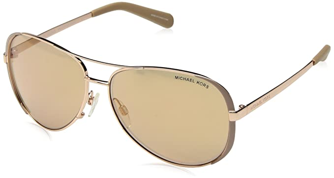 8fd873a09bb8 Michael Kors MK5004 1017R1 Gold Chelsea Pilot Sunglasses Lens Category 2  Lens M