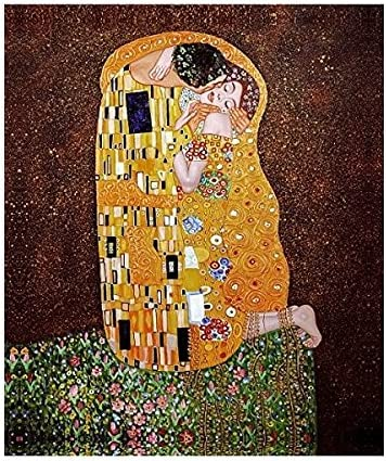 Santin Art-The Kiss-Canvas Art Canvas Prints, Stretched and Framed Wall Art and Home Decorations 20X24inch