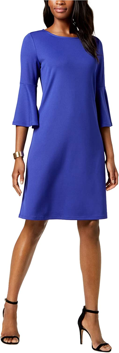 Limited time for free shipping Kasper Women's Knit Dress Sleeve Bell with Los Angeles Mall Ruffled