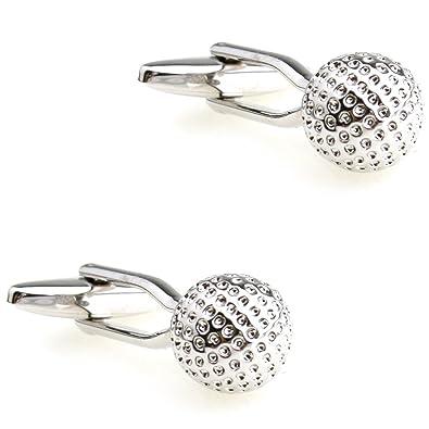 CIFIDET Gemelos Mancuernas de plata de la bola de golf de la ...