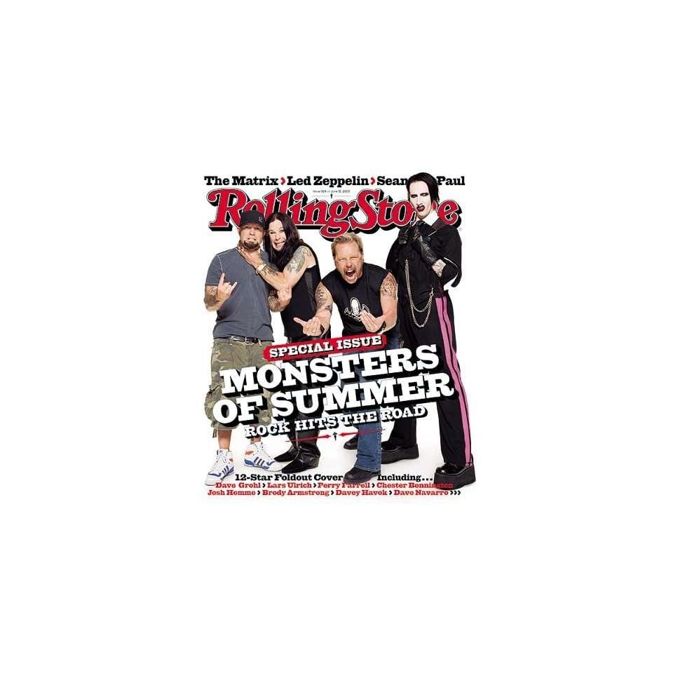Fred Durst, Ozzy Osborne, James Hetfield, Marilyn Manson   Monsters of Summer (June 12, 2003   Issue #924 Rolling Stone Magazine)