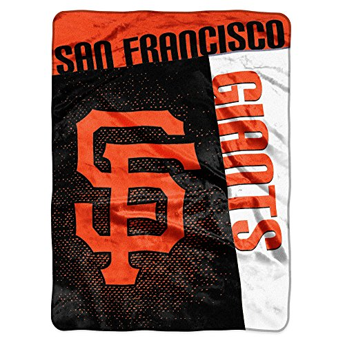 MLB San Francisco Giants Strike Plush Raschel Throw, 60