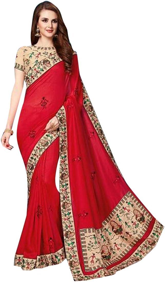 ETHNIC EMPORIUM - Blusa Formal para Mujer (Seda, 6,25 m), Color Rojo: Amazon.es: Ropa y accesorios