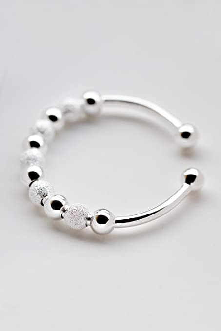 Amazon Com Generic 990 Fine Silver Bracelet Women Girls Lady Simple
